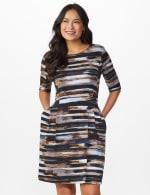 Brush Stroke Stripe Dress - 6
