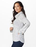 Westport Novelty Sleeve Curved Hem Sweater - 3