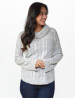 Westport Novelty Sleeve Curved Hem Sweater - 5