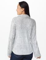 Westport Novelty Sleeve Curved Hem Sweater - 2