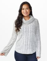 Westport Novelty Sleeve Curved Hem Sweater - Pale Grey - Front