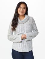 Westport Novelty Sleeve Curved Hem Sweater - 6