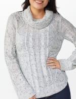 Westport Novelty Sleeve Curved Hem Sweater - 4