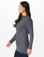 Roz & Ali Ottoman Mock Neck Hi-Lo Pullover Sweater - 3