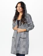 Roz & Ali Houndstooth Sweater Coat - 6