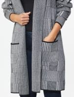 Roz & Ali Houndstooth Sweater Coat - 5