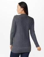 Roz & Ali Ottoman Mock Neck Hi-Lo Pullover Sweater - 2