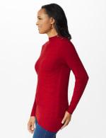 Roz & Ali Ottoman Mock Neck Hi-Lo Pullover Sweater - 10