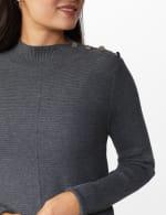 Roz & Ali Ottoman Mock Neck Hi-Lo Pullover Sweater - 4
