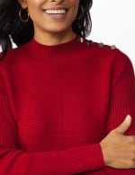 Roz & Ali Ottoman Mock Neck Hi-Lo Pullover Sweater - 11