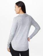 Westport Grommet Trim Pullover Sweater - Grey Heather - Back