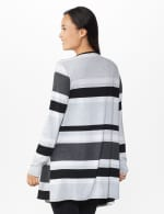DB Sunday Hacci Sweater Knit Stripe Cardigan - Multi - Back