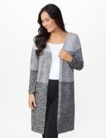 DB Sunday Hacci Sweater Knit Color Block Cardigan - 6