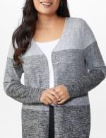 DB Sunday Hacci Sweater Knit Color Block Cardigan - 5