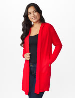 Roz & Ali Crisscross Back Sweater Duster - Red - Front