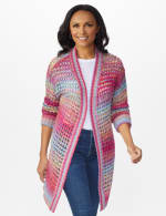 Westport Multi-Color Duster Cardigan - Multi - Front