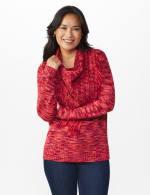 Westport Detachable Scarf Neck Pullover Sweater - 8