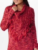 Westport Detachable Scarf Neck Pullover Sweater - 11