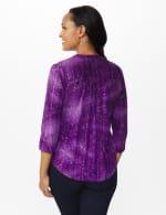 Purple Sequin Tie Dye Pintuck Popover - Petite - Grape Jelly - Back