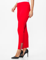 Roz & Ali Superstretch Pull On Ankle Pant with Heat Seal Band Trim - Firecracker - Front