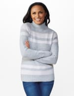 Stripe Tunic Sweater - Grey Combo - Front
