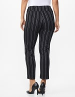 Pull on Stripe Millenium Ankle Pant - Black/Navy - Back