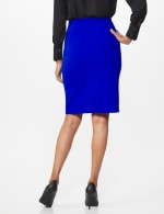 Pencil Skirt with Hardware Trims and Tab Detail - Blue Ensign - Back