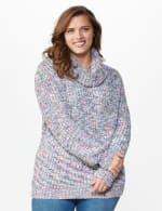 Roz & Ali Novelty Split Neck Pullover Sweater - 6