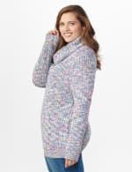 Roz & Ali Novelty Split Neck Pullover Sweater - 4