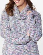 Roz & Ali Novelty Split Neck Pullover Sweater - 5