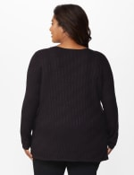 The Roz & Ali Everyday Pullover - Plus - Black - Back