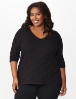 The Roz & Ali Everyday Pullover - Plus - Black - Front