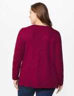 The Roz & Ali Everyday Pullover - Plus - Night Sangria - Back