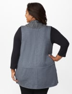 DB Sunday Faux Sherpa Vest - Plus - Grey - Back