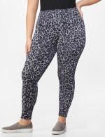 Zac & Rachel Animal Print Legging - Plus - Grey/Black Animal - Front