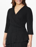Tiered knit Dress - Plus - Black - Detail