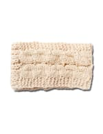 Cable Knit Braided Head Wrap - Off White - Front