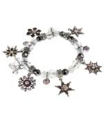 Snowflake Charm Bracelet - White / Silver - Back