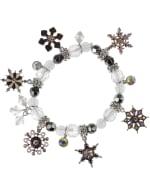 Snowflake Charm Bracelet - White / Silver - Front
