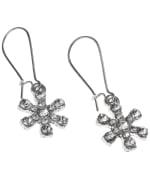 Snowflake Earrings - Silver - Back
