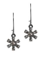 Snowflake Earrings - Silver - Front