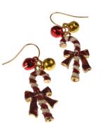 Candy Cane Earrings - Multi - Back
