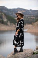 Silvia Embroidered Midi Dress - 2