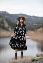 Silvia Embroidered Midi Dress - 4