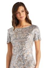 Scroll Panel Sequin Dress - Petite - 3