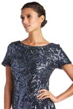 Sequin Short Sleeve Dress - Petite - 3