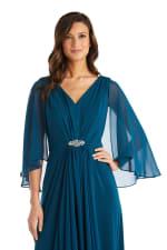 Long Matte Chiffon Dress - Petite - 7