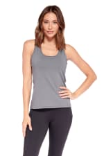 Speed Up Racer Back Tank - Charcoal - Front