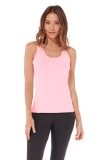 Speed Up Racer Back Tank - Blush - Front