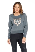 Kendall Panther Sweater - Gunmetal - Front